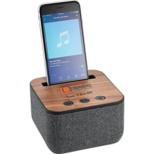 Promotional Shae Fabric and Wood Bluetooth Speaker