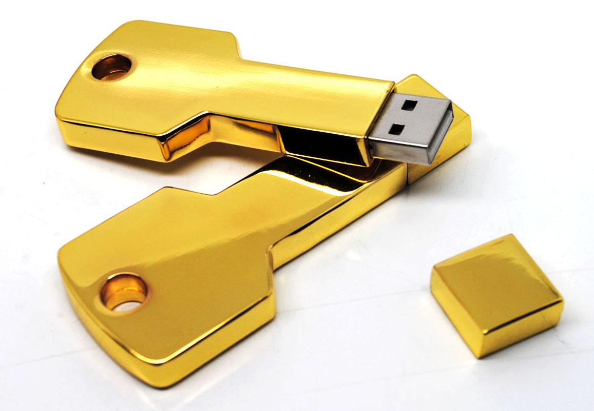 quà tặng usb chìa khóa vàng usk06