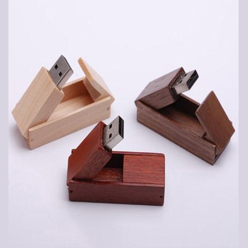 quà tặng usb gỗ hộp bật usw27