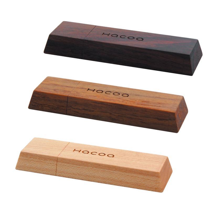 quà tặng usb gỗ hình thỏi socola usw26