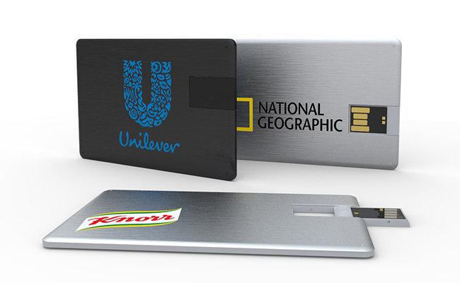 Quà tặng doanh nghiệp USB namecard vỏ nhôm